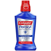 Colgate Peroxyl Mouth Sore Rinse, Antiseptic Oral Cleanser & Rinse Mild Mint/Alcohol Free