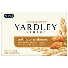 Yardley of London Naturally Moisturizing Bath Bar Oatmeal & Almond