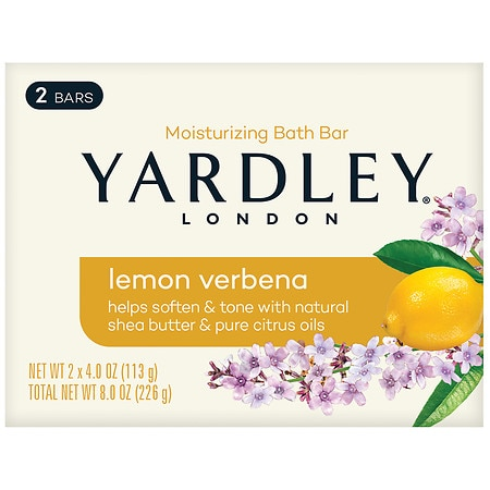 Naturally Moisturizing Bath Bar Lemon Verbena with Shea Butter by Yardley of London