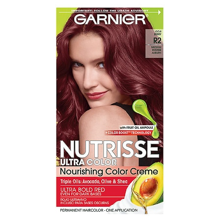 Garnier Nutrisse Ultra Color Permanent Haircolor R2 Medium Intense Auburn