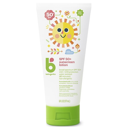 Babyganics Mineral-Based Sunscreen, SPF 50+ Fragrance Free