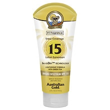 Australian Gold Sheer Coverage Sunscreen Lotion SPF 15