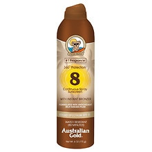 Australian Gold Continuous Spray Sunscreen with Instant Bronzer SPF 8