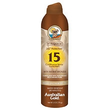 Australian Gold Continuous Spray Sunscreen with Instant Bronzer SPF 15