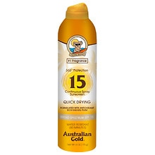Australian Gold Continuous Spray Sunscreen Clear SPF 15