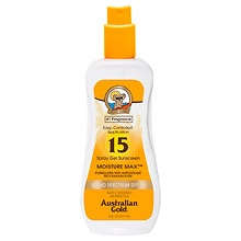 Australian Gold Clear Spray Gel, SPF 15