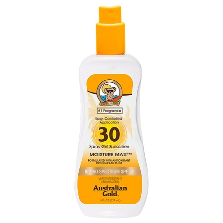 Australian Gold Clear Spray Gel, SPF 30