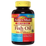 Nature Made Fish Oil One Per Day 1200 mg Dietary Supplement Liquid Softgels