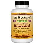 Healthy Origins Resveratrol, 300mg, Vegetable Capsules