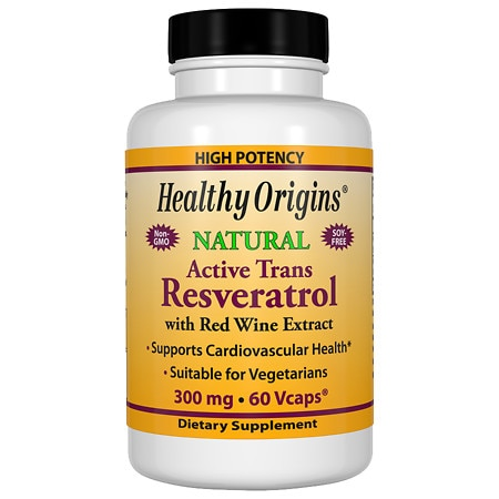 Healthy Origins Resveratrol 300mg, Vegetable Capsules