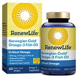 ReNew Life Norwegian Gold Ultimate Fish Oils Critical Omega 1200 mg Dietary Supplement Fish Orange