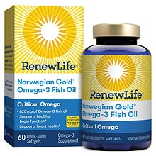 ReNew Life Norwegian Gold Ultimate Fish Oils Critical Omega 1200 mg Dietary Supplement Fish