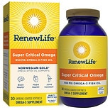 ReNew Life Norwegian Gold Super Critical Omega Ultimate Fish Oils 1200 mg Dietary Supplemen
