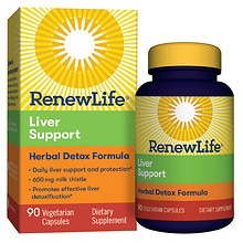ReNew Life Critical Liver Support Dietary Supplement Vegetable Caplets