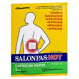 Salonpas Hot Capsicum Patch Topical Analgesic 5.12 In x 7.09 In