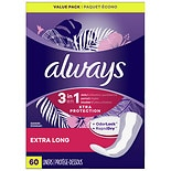 Always Xtra Protection Daily Liners Plus Odor-Lock Pads, Double Pack