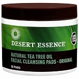 Desert Essence Natural Tea Oil  Original Facial Cleansing Pads