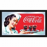Trademark Global Coca-Cola Vintage Mirror Horizontal Waitress w/ Coke
