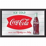 Trademark Global Coca-Cola Vintage Mirror Horizontal Refreshing New Feeling