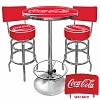 Trademark Global Ultimate Coca-Cola Gameroom Combo - 2 Stools w/Back & Table
