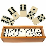 Trademark Games Premium Set of 28 Double Six Dominoes w/ Wood Case