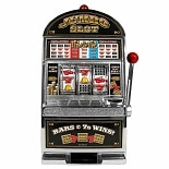 Trademark Poker Jumbo Slot Machine Bank - Replication
