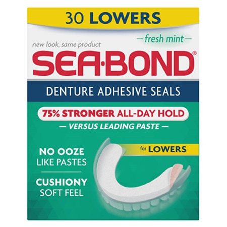 Sea-Bond Denture Adhesive Wafers for Lowers Fresh Mint