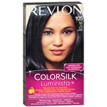 Revlon ColorSilk Luminista Hair Color Bright Black 105