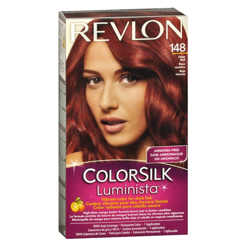 Buy Revlon ColorSilk Luminista Vibrant Color for Dark Hair, Deep Red