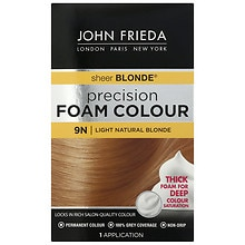 John Frieda Precision Foam Color Permanent Hair Colour 9N Sheer Blonde Light Natural Blonde