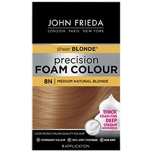 John Frieda Precision Foam Color Permanent Hair Colour 8N Sheer Blond Medium Natural Blonde