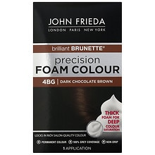 John Frieda Precision Foam Color Permanent Hair Colour 4BG Brilliant Brunette Dark Chocolate Brown