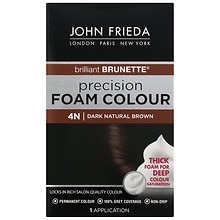 John Frieda Precision Foam Color Permanent Hair Colour 4N Brilliant Brunette Dark Natural Brown