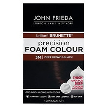 John Frieda Precision Foam Color Permanent Hair Colour 3N Brilliant Brunette Deep Brown-Black