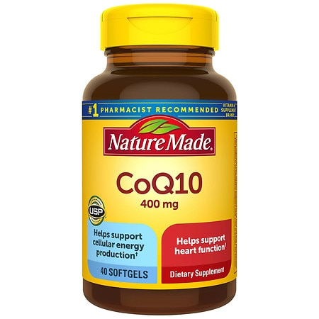 Nature Made CoQ10 400 mg Dietary Supplement Liquid Softgels