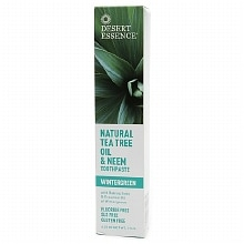 Desert Essence Tea Tree Oil & Neem Toothpaste Wintergreen Wintergreen