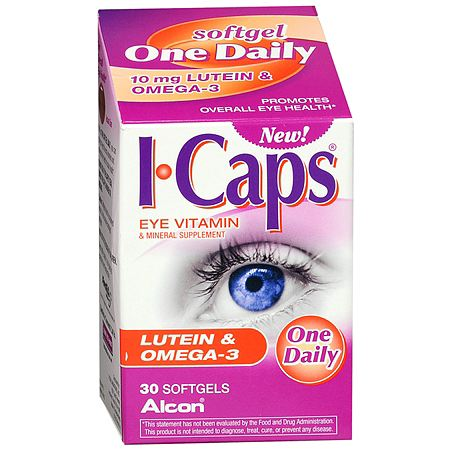 ICaps Eye Vitamin & Mineral Supplement Softgels