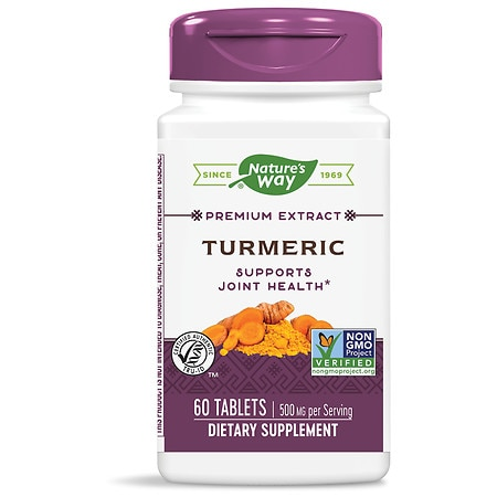 Nature's Way Turmeric Standardized Dietary Supplement Tablets