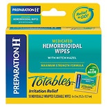 Preparation H Totables Hemorrhoidal Wipes