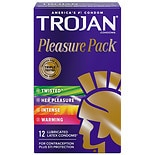 Trojan Lubricated Premium Latex Condoms, Pleasure Pack