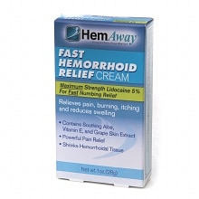 HemAway Hemorrhoid Relief Cream 1 oz