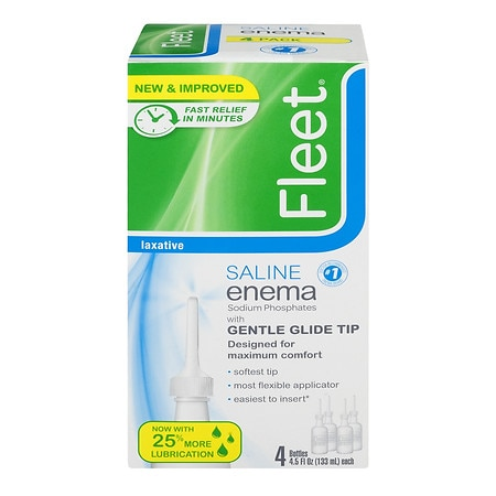 Fleet Saline Enema Laxative 4 Pack