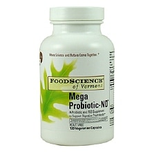 FoodScience of Vermont Mega Probiotic-ND Dietary Supplement Capsules