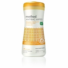 method ANTIBAC Wipes, All Purpose Cleaning and Disinfecting Wipes Orange Zest