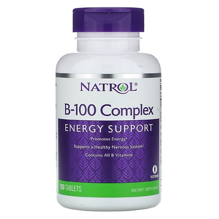 Natrol B-100 Complex Dietary Supplement Tablets