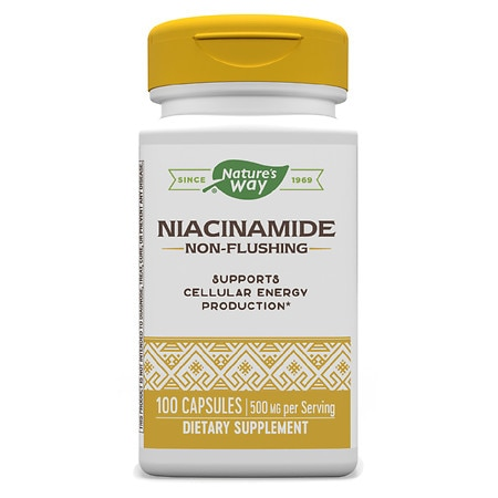 Nature's Way Niacinamide 500mg, Non-Flushing, Capsules