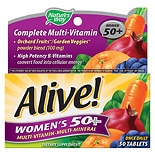 Nature's Way Alive! Multivitamin & Whole Food Energizer Dietary Supplement Tablets Women's 50+