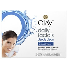 Olay 4-in-1 Daily Facial Cloths, Combination/Oily