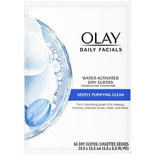 2-in-1 Daily Facial Cloths, Combination/Oily