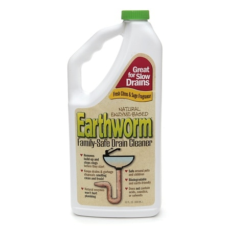 Earthworm Natural Enzyme-Based Family-Safe Drain Cleaner